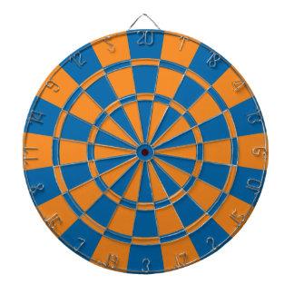 Laranja e azul jogos de dardos