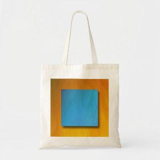 Laranja e azul bolsas para compras