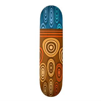 Laranja e design azul shape de skate 19,7cm