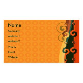 Laranja elegante cartão de visita