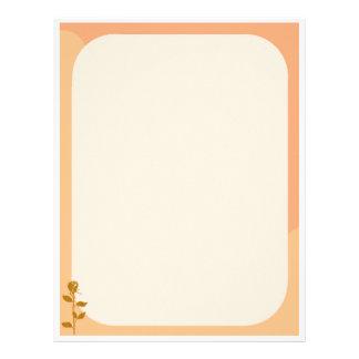 Laranja elegante e beira curvada simples do rosa papel timbrado