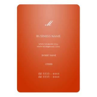 Laranja elegante legal cartão de visita grande