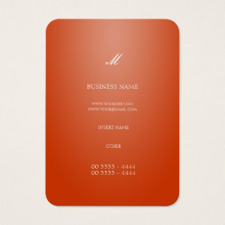 Laranja elegante legal cartão de visitas