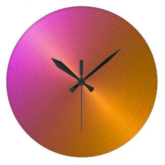 Laranja elegante para picar o inclinação de Ombre Relógio De Parede