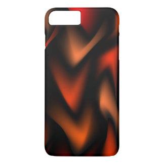 Laranja flamejante capa iPhone 7 plus
