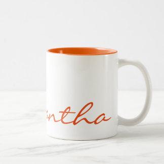 laranja na moda chique moderna simples elegante do caneca de café em dois tons