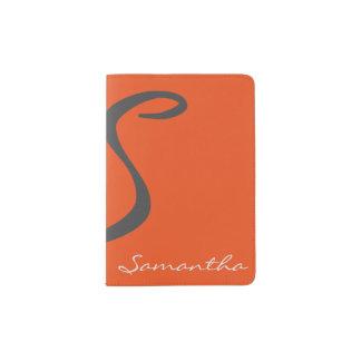 laranja na moda chique moderna simples elegante do capa para passaporte
