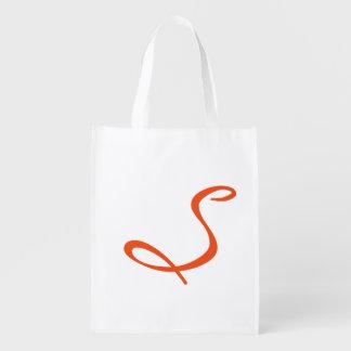 laranja na moda chique moderna simples elegante do sacolas reusáveis