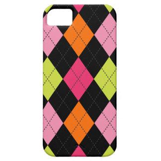 Laranja na moda retro do limão do rosa quente do capa barely there para iPhone 5