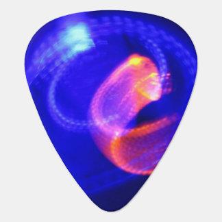 Laranja no abstrato do azul guitar pick