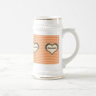 laranja romântica moderna elegante da viga do caneca de cerveja