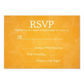 Laranja romântica Wedding elegante de RSVP Paris Convite 8.89 X 12.7cm