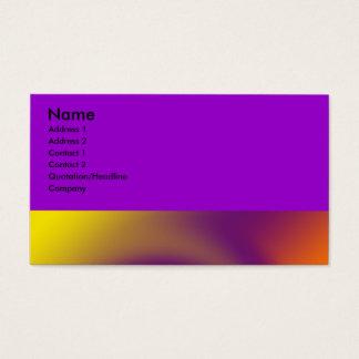 laranja roxa do redemoinho cartão de visitas