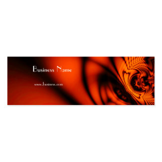 Laranja selvagem abstrata elegante do cartão de cartão de visita skinny