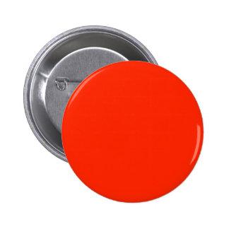 Laranja vermelha elegante - tensão da cor da forma bóton redondo 5.08cm