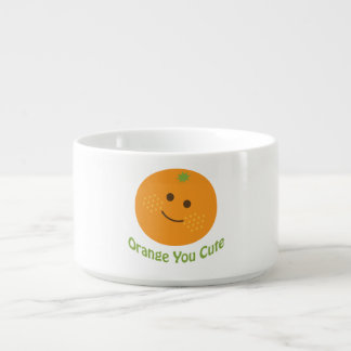 Laranja você bonito tigela de sopa