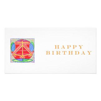 LAREIRA de Reiki do feliz aniversario Cartão Com Foto