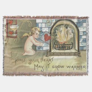 Lareira do coração do brinde do Cupido Throw Blanket