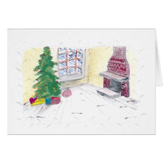 Lareira do Natal Cartão Comemorativo