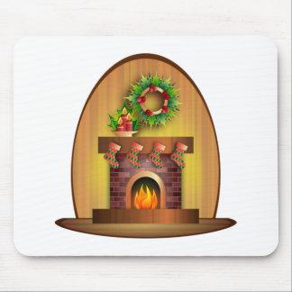 Lareira do Natal Mouse Pad