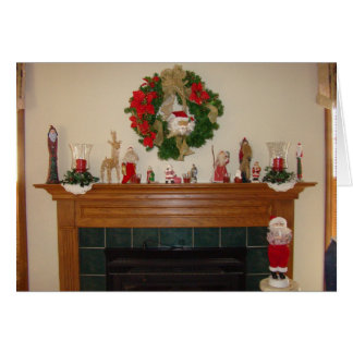 Lareira/lareira do Natal Cartões