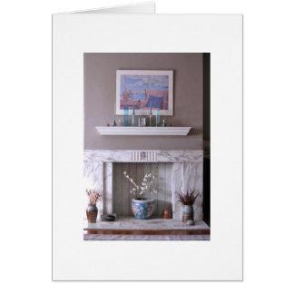 Lareira, o coração da casa cartão comemorativo