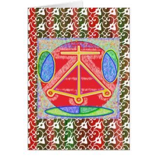 LAREIRA oriental de Reiki do chinês Cartão Comemorativo