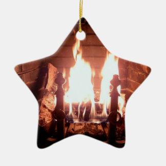 Lareira Ornamento De Cerâmica Estrela