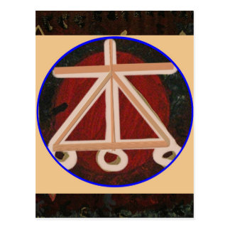 LAREIRA - símbolo cura de Karuna Reiki Cartão Postal