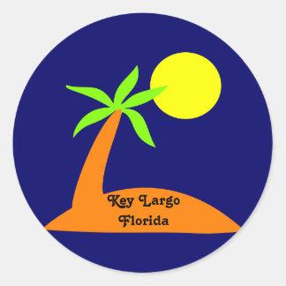 Largo chave, etiqueta tropical de Florida Adesivo