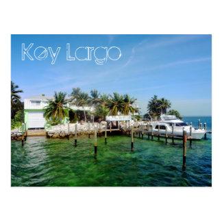 Largo chave, Florida, EUA Cartão Postal