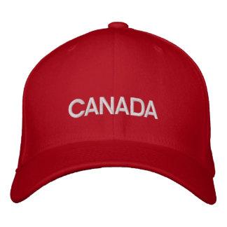 Lãs básicas vermelhas/brancas de Canadá bordaram o Boné Bordado