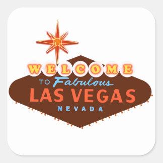 Las Vegas fabuloso Adesivo Quadrado