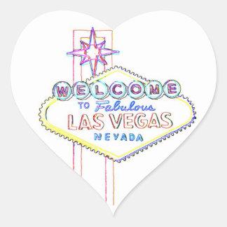 Las Vegas fabuloso Adesivo Coração