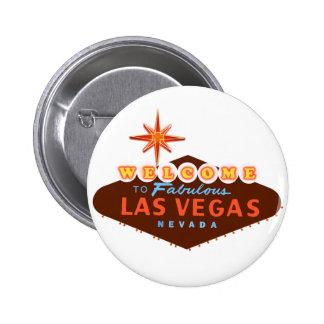 Las Vegas fabuloso Bóton Redondo 5.08cm