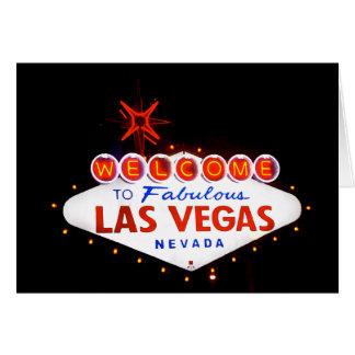 Las Vegas fabuloso - na noite Cartão Comemorativo