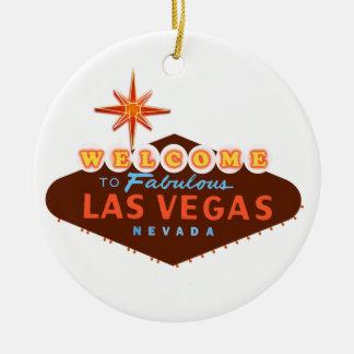 Las Vegas fabuloso Ornamento De Cerâmica Redondo