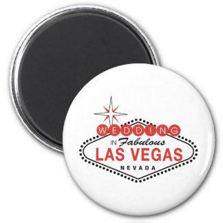 Las Vegas fabuloso que Wedding o modelo customizáv Ímã Redondo 5.08cm