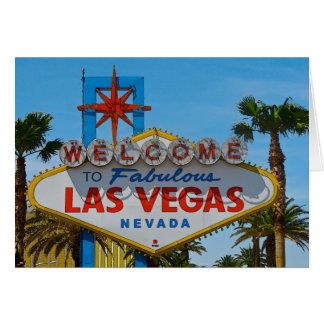 Las Vegas fabuloso - sem fios Cartão Comemorativo