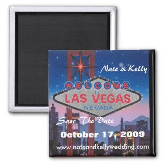 Las Vegas grande, Nate & Kelly, salvar a data, O… Ímã Quadrado