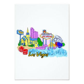 Las Vegas - Nevada - os Estados Unidos da América Convite 12.7 X 17.78cm