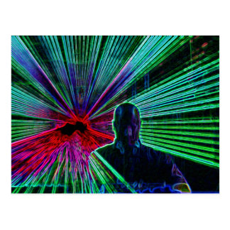 Lasers no cartão do DJ Cartoes Postais