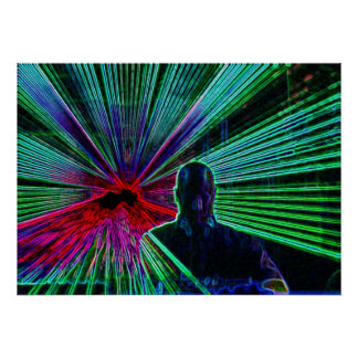 Lasers no DJ Posters
