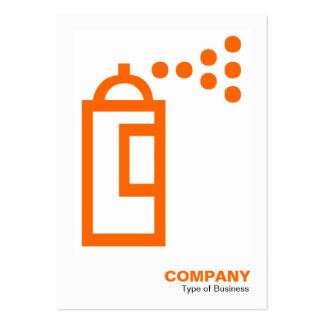 Lata de pulverizador - laranja no branco cartão de visita