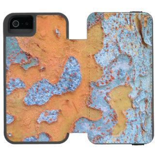 Latido de árvore alaranjado e azul capa carteira incipio watson™ para iPhone 5