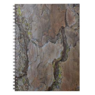 Latido de árvore Camoflauge de Brown Caderno Espiral