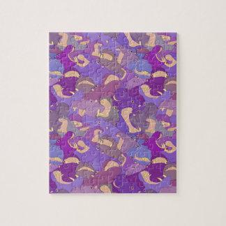 Laughing Hippos - purple Quebra-cabeças