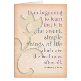 ~Laura simples doce Ingalls das coisas mais Cartão