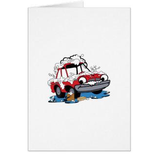 Lavagem de carros cartão comemorativo