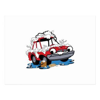Lavagem de carros cartão postal
